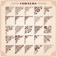 Vintage Style Corners And Borders Vector