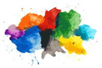 Abstract watercolor splash paint background