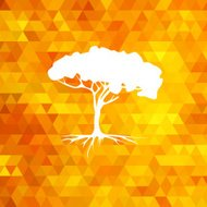 Tree silhouette vector summer