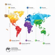 world map illustration infographics geometric concept design