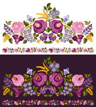 Floral ornament with seamless element