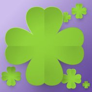 Abstract four leaf clover