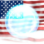USA fresh light blue icon design