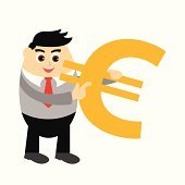 business man and money concept illustration