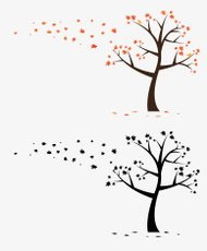 Meple Tree Branch Flowers Wall Decal