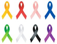 Breast Cancer Ribbon, Aids, Autism Ribbons royalty free vector i