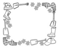 Winter Hats Boots Frame
