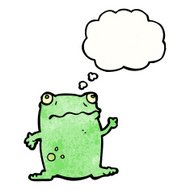 waving frog cartoon
