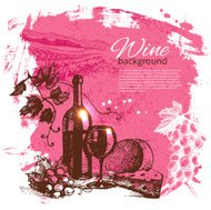 Wine vintage background
