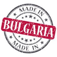 made in BULGARIA red grunge stamp isolated on white background