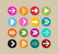 Collection Of Arrow Labels And Icons