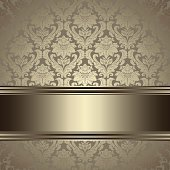 Vintage background. Ornate floral seamless pattern with gold .