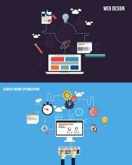 Icons for graphics seo and web design