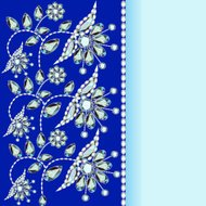 background with a silver flowers with precious stones