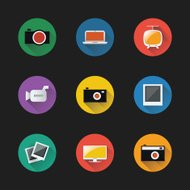 Retro Styled Icon Set of Electronic Devices