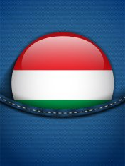 Hungary Flag Button in Jeans Pocket