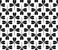Vector illustration of seamless black-and-white pattern
