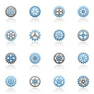 Blue Gears Icon Set