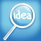 Lupe Idea Creative Fresh Design with light blue Background