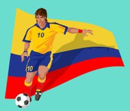 Colombia soccer player