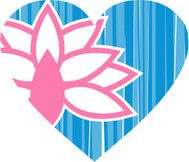 Lotus Flower Valentine Heart