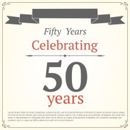 Fifty years anniversary card