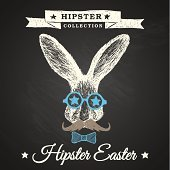 Hipster Oster - Hase Ostern Plakat