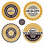 Premium quality guarantee sign