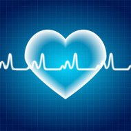 Abstract Heart Pulse Medical Background Vector Illustration