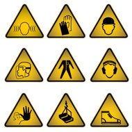 Work Safety Sign- Vector