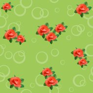 light green seamless texture with roses and circles