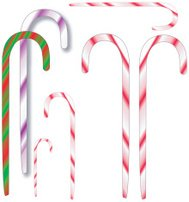 Candy canes - vector