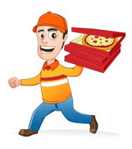 Pizza deliveryman was running