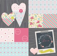 Wedding, love and romance design elements collection.