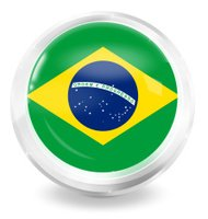 Brazil Icon Button Creative Design