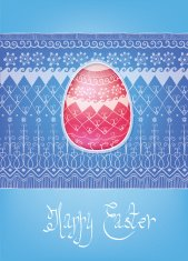 Easter folk ornament egg hand-drawn typography