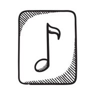 Multimedia music audio note symbol.