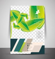 Wave abstract corporate flyer print design