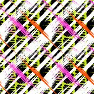 Bold pattern with wide brushstrokes and stripes