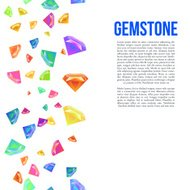 Gemstone Seamless Pattern for Presentation. Vector