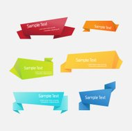 Colorful Vector Set of Origami Ribbons