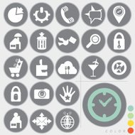 Set of web icons design