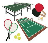 set of different icons for tennis