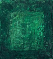 Oil painted green astract background with frame