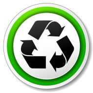 Vector recycle symbol icon