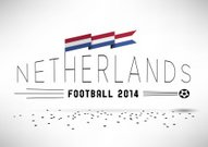 Netherlands Football Design with Flag