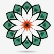 Vector eco icon , flower design element.