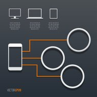 Computing Concept. Technology and Communication. Vector illustra