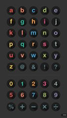 Type font and number Icon set