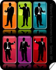 Vibrant Businessmen Icon Series